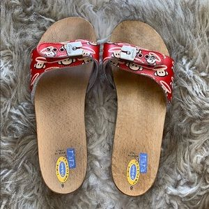 DR. SCHOLLS PAUL FRANK COLLAB SANDALS